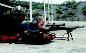 PTSD or just learning to be a sniper, hard to tell.