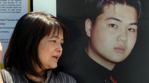 Kim Nguyen with a picture of her son Van.
